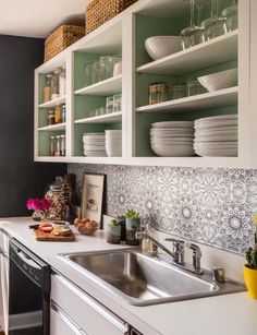Apartment kitchen Makeover - Budget Makeover A Kitchen& Style Evolution Over 3 Years. Kitchen On A Budget, Diy Kitchen, Kitchen Ideas, Kitchen Storage, Kitchen Post, Drawer Storage, Kitchen Small, Kitchen Sinks, Small Dining