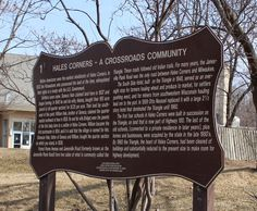 Wisconsin Historical Markers: Hales Corners - A Crossroads Community