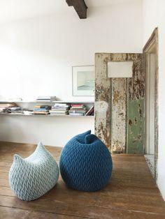 knit poufs: Aleksandra Gaka for casalis.be