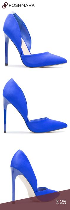 Cobalt Blue Pump Worn Once Size 9 Worn once. In excellent condition.  Comes with box. ShoeDazzle Shoes Heels