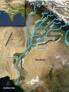 Climate change led to collapse of ancient Indus civilization, study finds -- ScienceDaily Geography Map, Geography Lessons, Physical Geography, Teaching Geography, Geography Classroom, Ancient Indian History, Ancient World History, History Of India, India World Map