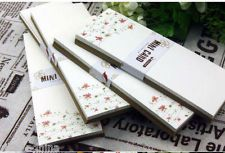 24pc Coffee X RED FLOWERS Mini Card Set floral mix Kraft & Ivory bookmark blanks, £5.00