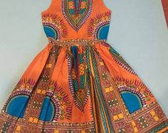 African print dress, Ankara dress, African clothing (Please read item details, day delivery) Dashiki Dress, Ankara Dress, African Print Dresses, African Design, How To Make, How To Wear, Summer Dresses, Clothing, Model