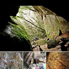 """""""Edakkal Caves are two natural caves which are located at Edakkal, 25 km from Kalpetta in the Wayanad district of Kerala India's Western Ghats"""""""