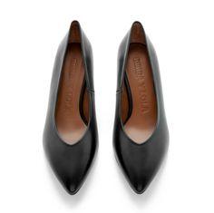 Zapatos negros de punta abierta formales Gioseppo para mujer Hoa9DVb