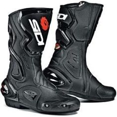 Sidi Cobra Botas de moto Negro 50 Top Lorica Lined with air Teflon mesh Calf back protection system Adiacent elastic panel at the closure in the calf area Schock absorbent heel Cream elastic panel … Mens Motorcycle Boots, Motorcycle Design, Biker Boots, Leather Riding Boots, Motorcycle Equipment, Bobber Motorcycle, Baskets, Cheap Boots, Cycling Gear