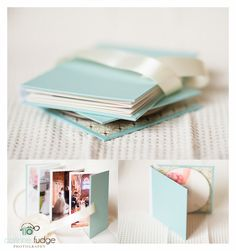 Nauli products in action! CD case and accordion brag book in mint and brown Such a cute way to show what's on the photo CD.  Great gift idea!!