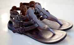 MUNICH Leather Sandals Gladiator Sandals by MandalaLeathers