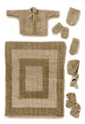 Image: Set of knit items for baby