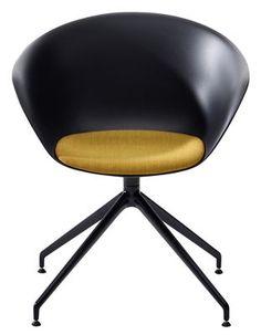 387€-coussin en plus- déclinaisons- Fauteuil pivotant Duna 02 Noir / Piètement noir - Arper - Décoration et mobilier design avec Made in Design