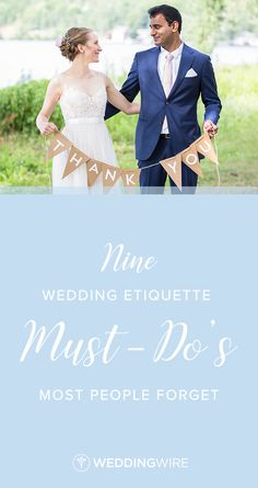 9 Wedding Etiquette Must-Dos Most People Forget -We talked to top event planners to get the inside scoop on which elements of wedding etiquette still matter today. From staying on schedule to writing thank you notes,  read the 9 must-dos on WeddingWire! {Anna Simonak Photography}