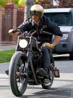 Brad Pitt bobber #riding #motorcycles #motos | caferacerpasion.com