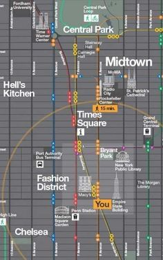 Pentagram has created a useful map with a great design. Never find yourself lost around New York City again! #present
