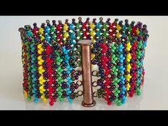 Bracelet Netted, Bracelet Honeycomb Making (For Beginners) , Beads Jewelry, Diy Jewelry, Jewelry Making, Netted Bracelet, Seed Bead Bracelets, Beading Patterns Free, Peyote Patterns, Seed Bead Tutorials, Beading Tutorials
