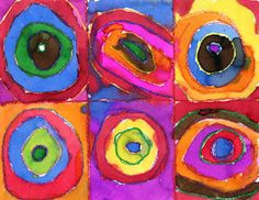"""Color Studies: Squares and Concentric Circles, Wassily Kandinsky, """"Concentric Circles"""""""