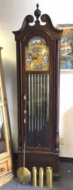 Vintage HERSCHEDE Grandfather Clock