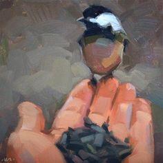 DPW  Original Fine Art Auction - Cautious Chickadee - © Carol Marine