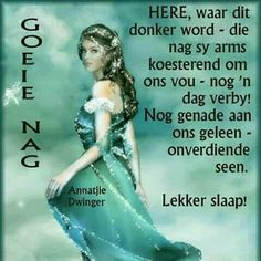 Goeie Nag, Night Quotes, Special Quotes, Sleep Tight, Afrikaans, Beautiful Landscapes, Good Night, Disney Characters, Fictional Characters