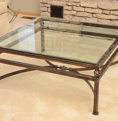 Cast Iron And Glass Coffee Table   Diy Modern Furniture Check More At Http:/