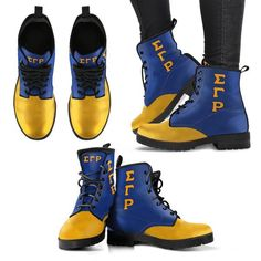 Sigma Gamma Rho Leather Boots