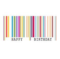 Happy Birthday Barcode Illustration... http://www.bje-art.co.uk/ https://www.etsy.com/uk/shop/BJEartshop