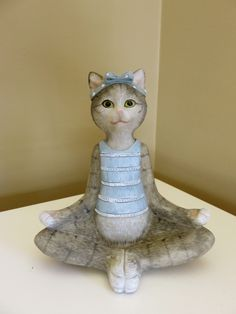 4 CAT YOGA FIGURINES EXERCISE HOT YOGA KITTENS GIFT RESIN NEW | eBay