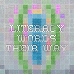 Literacy - Words Their Way