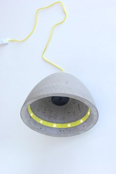 One off light object by Owned & Operated. The casted-in 3D printed inlays hold 12 LEDs.