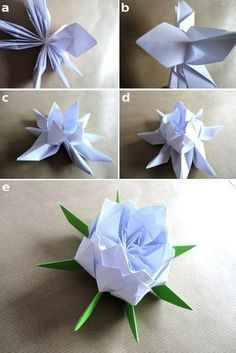 Wonderful DIY Beautiful Origami Lotus Flower | WonderfulDIY.com
