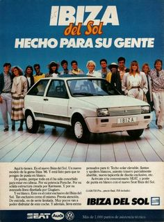 Ibiza, Vintage Ads, Nostalgia, Advertising, Wheels, Classic, Cars, Old Ads, Old Advertisements