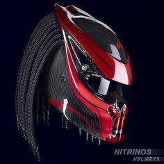 Шлем Хищник (оригинал) - разработка мотостудии Nitrinos. Высокотехнологичный, композитный корпус с кевларовым армированием, обеспечивает высокую прочность и небольшой вес шлема. Так же, в модельной линейке шлемов Nitrinos, представлена карбоновая версия. Более подробное описание шлема, смотрите на официальном сайте
