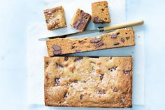Donna Hay- Salted Caramel Brownies Blondie / the new easy, photography by William Meppem