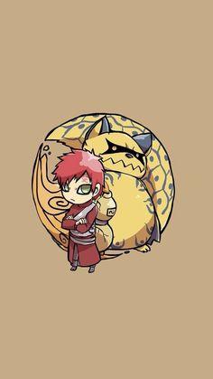 Naruto - Chibi Gaara & Shukaku the Ichibi (One Tails) Naruto Gaara, Anime Naruto, Kakashi, Gaara Shukaku, Sasuke Sakura, Madara Uchiha, Anime Chibi, Manga Anime, Photo Naruto
