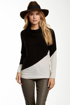 Philosophy Cashmere Colorblock Cashmere Sweater