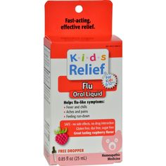Homeolab USA Kids Relief Flu For Kids 2-Plus Raspberry - 0.85 fl oz - Homeolab USA Kids Relief Flu For Kids 2-Plus Raspberry Description: Helps relieve flu-like symptoms: Fever and Chills Aches and Pains Feeling run-down Safe- No Side Effects, No Drug Interaction Dye Free, Sugar Free Great Tasting Raspberry Flavor Free Dropper Homeopathic Medicine This homeopathic midicine temporarily helps relieve flu-like symptoms: Fever, Aches, Pains, Chills and feeling fun-down. Free Of Dye, sugars…