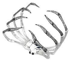 Stephen Webster 18-carat White Gold Jewels Verne Spider Crab Bracelet with White Diamonds.