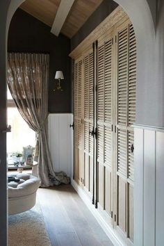 19 New Ideas For French Furniture Bedroom Closet Doors French Closet Doors, Bedroom Closet Doors, Bedroom Wardrobe, Wardrobe Doors, Home Bedroom, French Doors Bedroom, French Bedrooms, Louvre Doors, Casa Loft