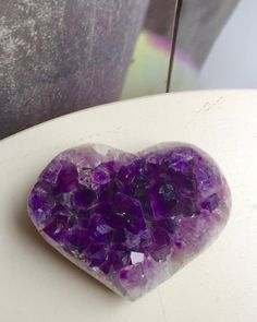 Amethyst Heart 4W x 3 x 1''D polished by LuvBLuved on Etsy