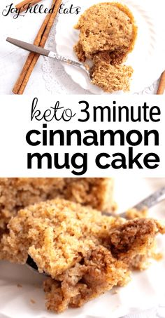 This fluffy Keto Cinnamon Mug Cake will leave you longing for another bite of its incredible flavors. You can whip up one of these personalized mug cakes in less than five minutes. They are delicious when topped with fruit and have a fantastic cinnamon flavor. You can enjoy these single-serving mug cakes and feel good because they are gluten-free, grain-free, sugar-free, low carb, and keto too.
