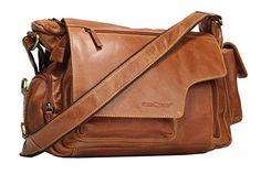 5cca4647e80d3 Greenburry Expedition Handtasche Ledertasche Umhängetasche - Echt Leder  Überschlagtasche - 39x28x13cm  Amazon.de  Koffer