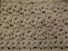 Crochet Up/Down Stitch Pattern