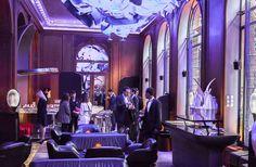 Cocktail party. Unique exhibition of ibride pieces at the prestigious hotel Plaza Athénée for the Paris Design Week Sept.2016.