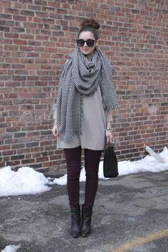 Oversized Scarf & Sweater