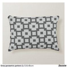 Grey geometric pattern accent pillow Soft Pillows, Accent Pillows, Throw Pillows, Grey Home Decor, Grey Cushions, Decorative Cushions, Soft Fabrics, Pattern, Shopping