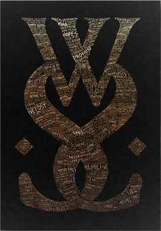 Gold emblem A2 screen print - While she sleeps / limited edition 100 ex
