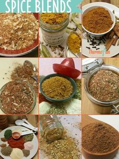 """Looking for ways to spice up your meals then thermomix spice blends are the perfect way to add some extra flavour or spice to an otherwise """"normal"""" dinner! Spice Blends, Spice Mixes, Cajun Spice Mix, Mulberry Recipes, Pine Nut Recipes, Spagetti Recipe, Christmas Food Gifts, Christmas Hamper, Radish Recipes"""