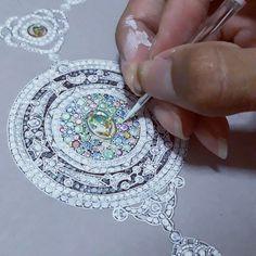 """ถูกใจ 35 คน, ความคิดเห็น 3 รายการ - ♔•qop•♔ (@pop.theerawut) บน Instagram: """"คอมหรือจะสู้มือ✍ #drawjewelry #Jewelrydesign #opal #universe #poptheerawut//…"""""""