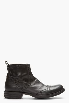 Fiorentini And Baker Black Punched Leather Eternity Boots
