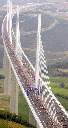 Millau Viaduct Bridge - Southern France. The world's tallest bridge.