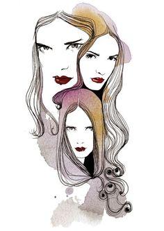 International women's day illustration by Judit García-Talavera, via Behance